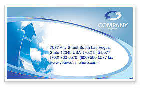 Going Up Business Card Template