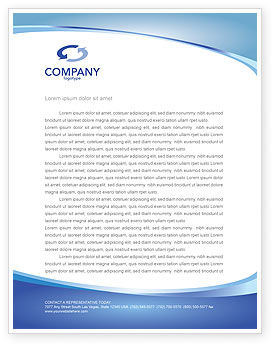Business Concepts: Going Up Letterhead Template #02916