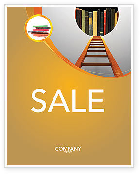Road to Knowledge Sale Poster Template, 02917, Education & Training — PoweredTemplate.com