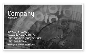 People: Independent Thinking Business Card Template #02918
