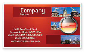 Flags/International: Germany Sign Business Card Template #02920