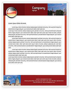 Germany Sign Letterhead Template, 02920, Flags/International — PoweredTemplate.com