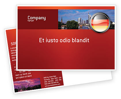 Flags/International: Germany Sign Postcard Template #02920