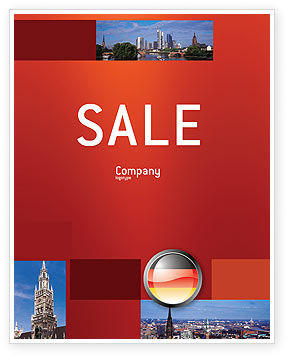 Flags/International: Germany Sign Sale Poster Template #02920