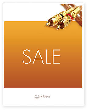 Technology, Science & Computers: RCA Connector Sale Poster Template #02922