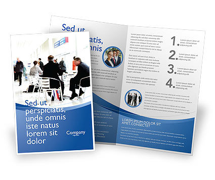 Business Environment Brochure Template, 02923, People — PoweredTemplate.com