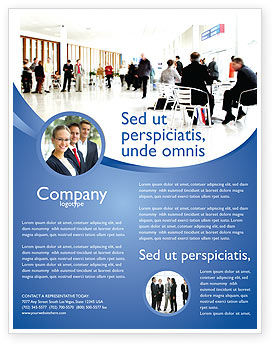 business environment flyer template background in microsoft word