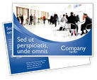 People: Business Environment Postcard Template #02923