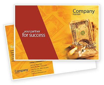 Financial/Accounting: Modèle de Carte postale de propriété sûre #02924