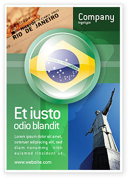 Flags/International: Brazilië Tekenen Advertentie Template #02926