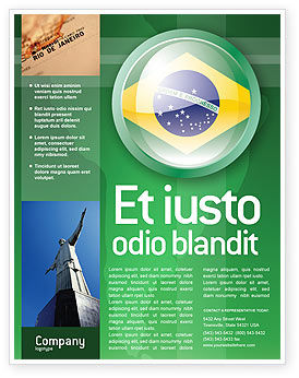 Flags/International: Brazil Sign Flyer Template #02926