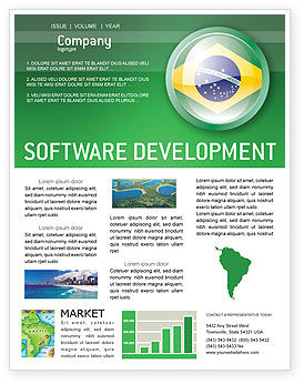 Flags/International: Brazil Sign Newsletter Template #02926