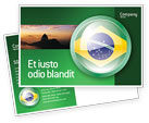 Flags/International: Brazil Sign Postcard Template #02926
