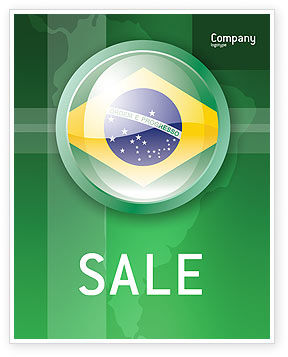Flags/International: Brazil Sign Sale Poster Template #02926