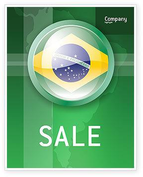 Brazil Sign Sale Poster Template, 02926, Flags/International — PoweredTemplate.com