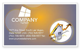 Business Concepts: Real Estate Rate Business Card Template #02929