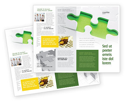 Part of the Whole Brochure Template, 02930, Business Concepts — PoweredTemplate.com