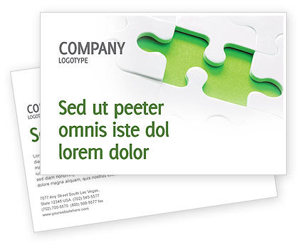 Business Concepts: Part of the Whole Postcard Template #02930