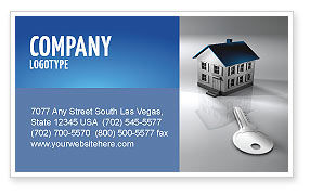 Real Estate Property Business Card Template, 02932, Careers/Industry — PoweredTemplate.com