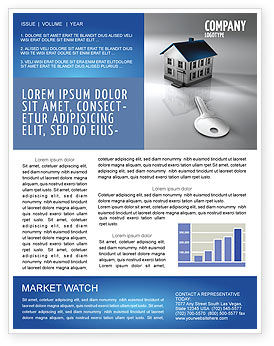 Real Estate Property Newsletter Template, 02932, Careers/Industry U2014  PoweredTemplate.com