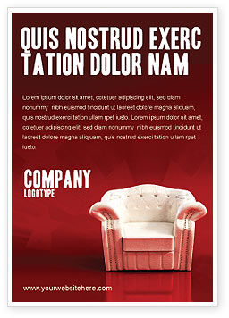 Careers/Industry: Comfort Stoel Advertentie Template #02933