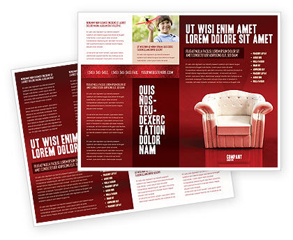 Comfort Chair Brochure Template, 02933, Careers/Industry — PoweredTemplate.com