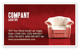 Careers/Industry: Comfort Chair Business Card Template #02933