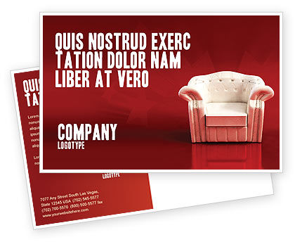 Comfort Chair Postcard Template, 02933, Careers/Industry — PoweredTemplate.com