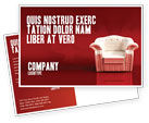 Careers/Industry: Comfort Chair Postcard Template #02933
