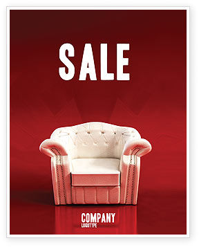 Careers/Industry: Comfort Chair Sale Poster Template #02933