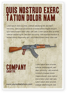 Military: Kalashnikov Advertentie Template #02934