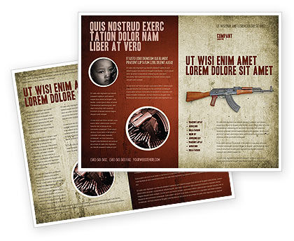 Military: Kalashnikov Brochure Template #02934