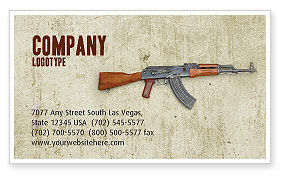 Kalashnikov Business Card Template, 02934, Military — PoweredTemplate.com