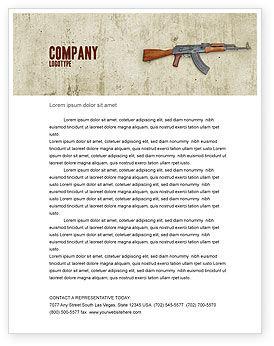 Military: Kalashnikov Letterhead Template #02934