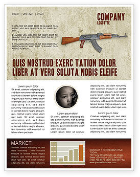 Kalashnikov Newsletter Template, 02934, Military — PoweredTemplate.com