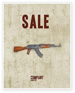 Military: Kalashnikov Sale Poster Template #02934