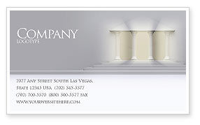 Construction: Portico Business Card Template #02936