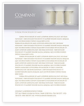 Portico Letterhead Template, 02936, Construction — PoweredTemplate.com