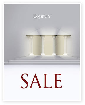 Construction: Portico Sale Poster Template #02936