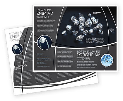Diamonds Brochure Template, 02938, Careers/Industry — PoweredTemplate.com