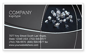 Careers/Industry: Diamonds Business Card Template #02938