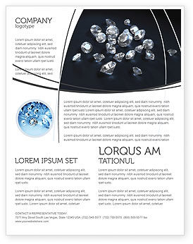 Diamonds Flyer Template, 02938, Careers/Industry — PoweredTemplate.com