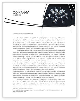 Careers/Industry: Diamonds Letterhead Template #02938