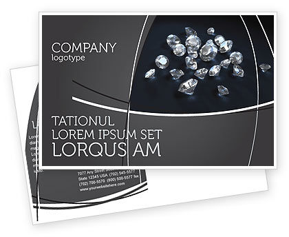 Careers/Industry: Diamonds Postcard Template #02938