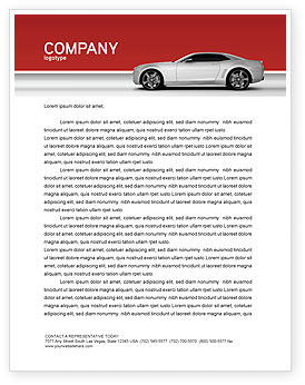 Supercar Letterhead Template, 02939, Cars/Transportation — PoweredTemplate.com