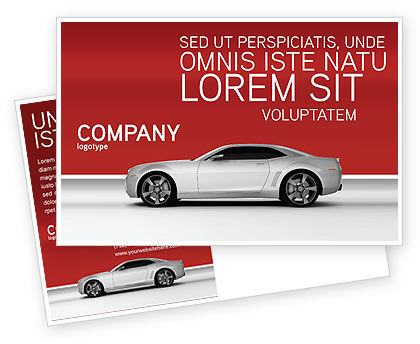 Supercar Postcard Template, 02939, Cars/Transportation — PoweredTemplate.com