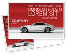 Cars/Transportation: Supercar Postcard Template #02939