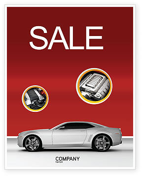 Cars/Transportation: Supercar Sale Poster Template #02939