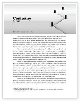 Business Concepts: Open Doors And Stairwells Letterhead Template #02943