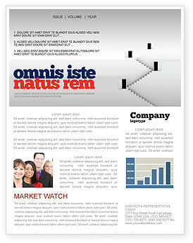 Open Doors And Stairwells Newsletter Template, 02943, Business Concepts — PoweredTemplate.com